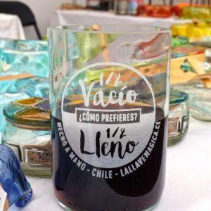 Vaso de botella - Vive optimista!