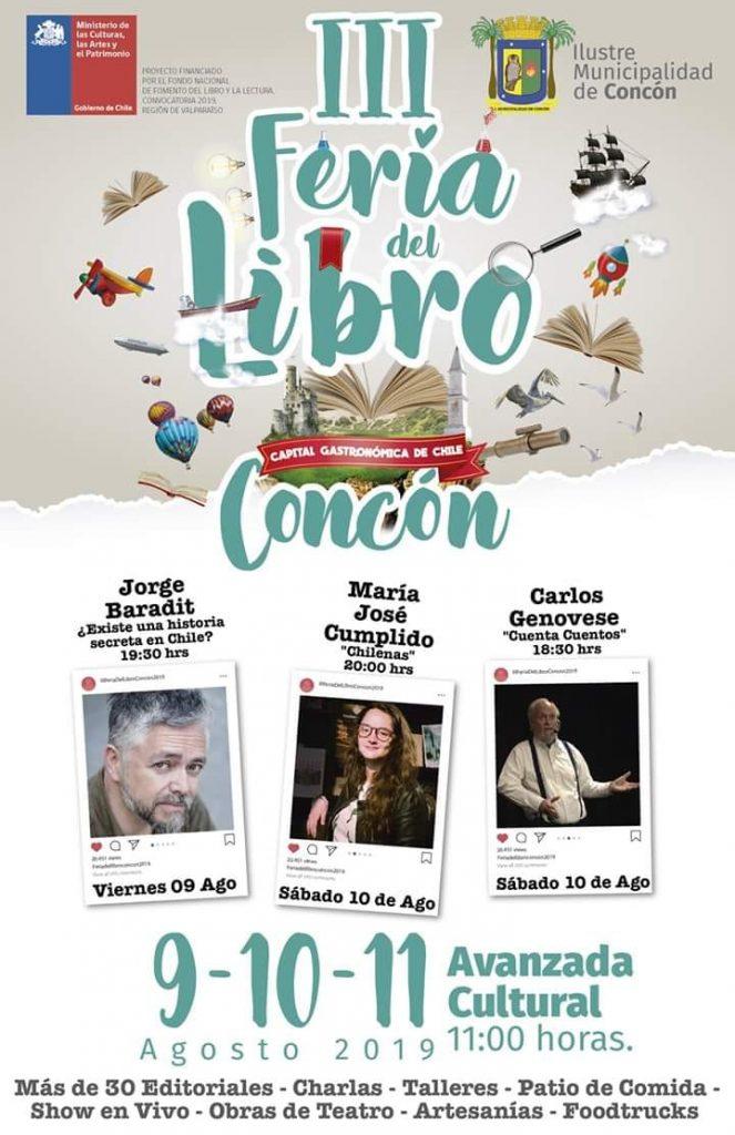 Afiche III Feria del Libro de Concón 2019
